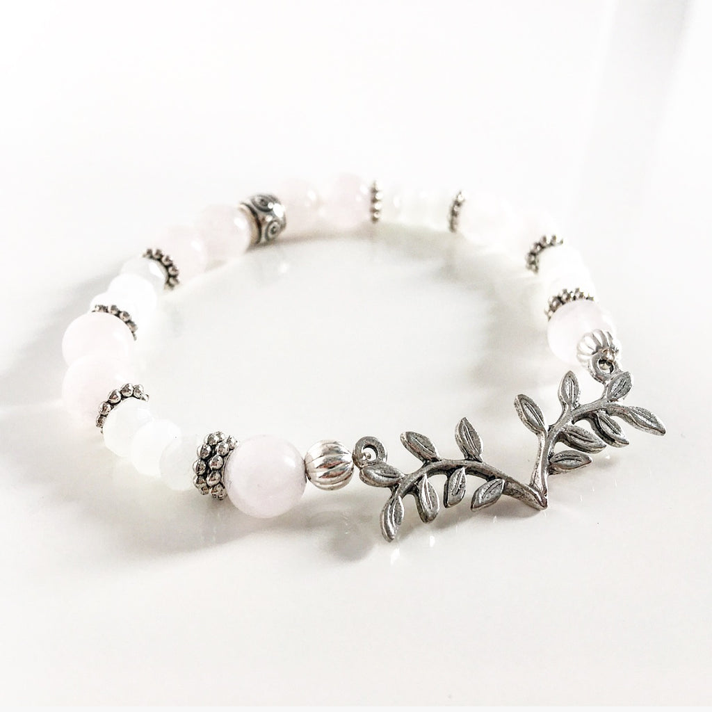 """Branched Out"" Bracelets (White)"
