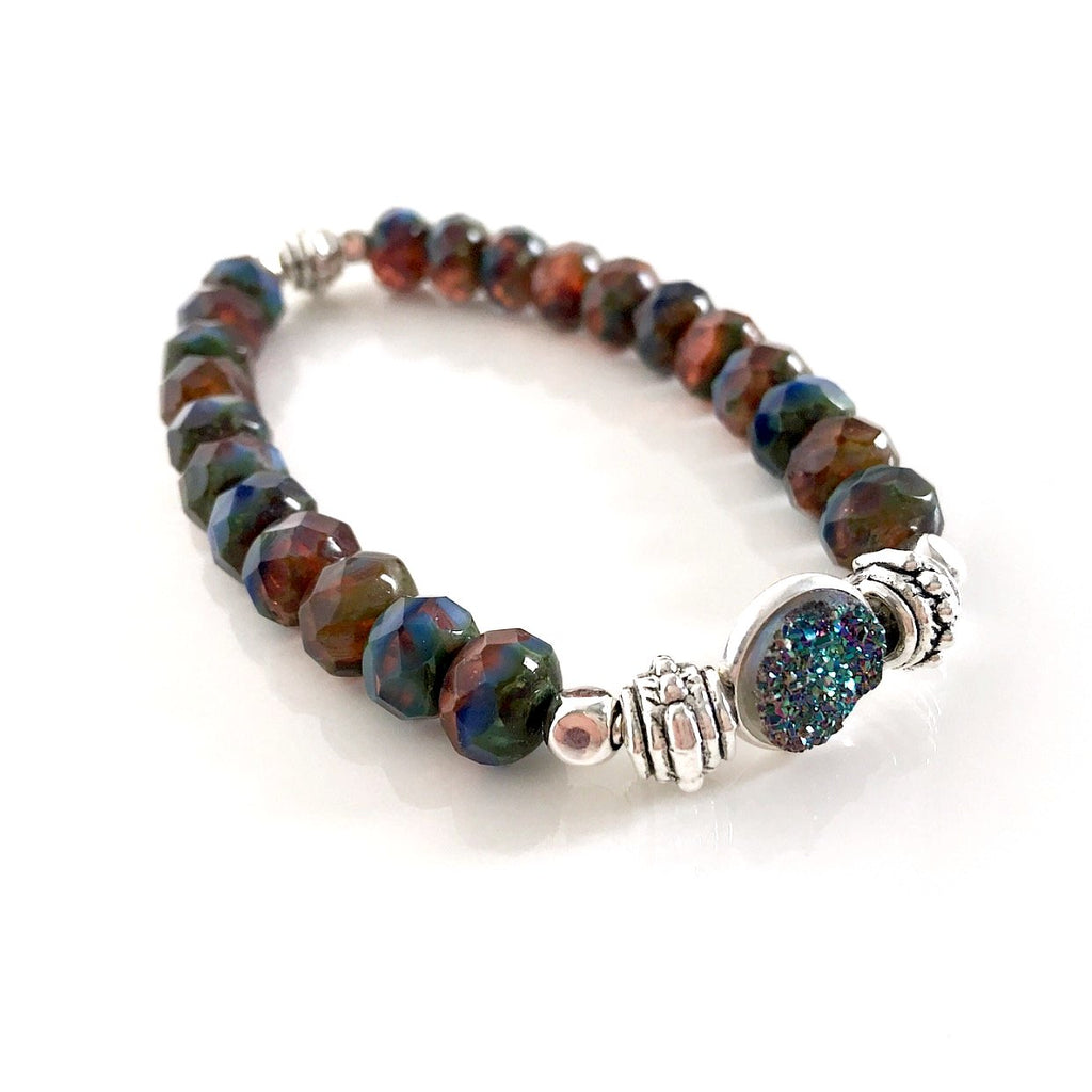 """Druzy Dream"" Bracelet (Autumn)"