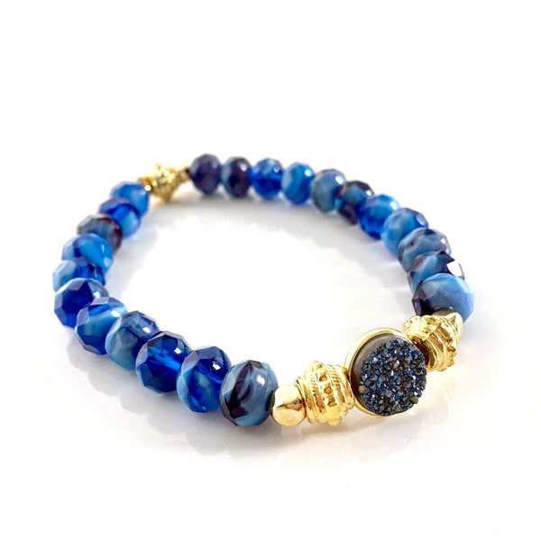 """Druzy Dream"" Bracelet (Royal)"