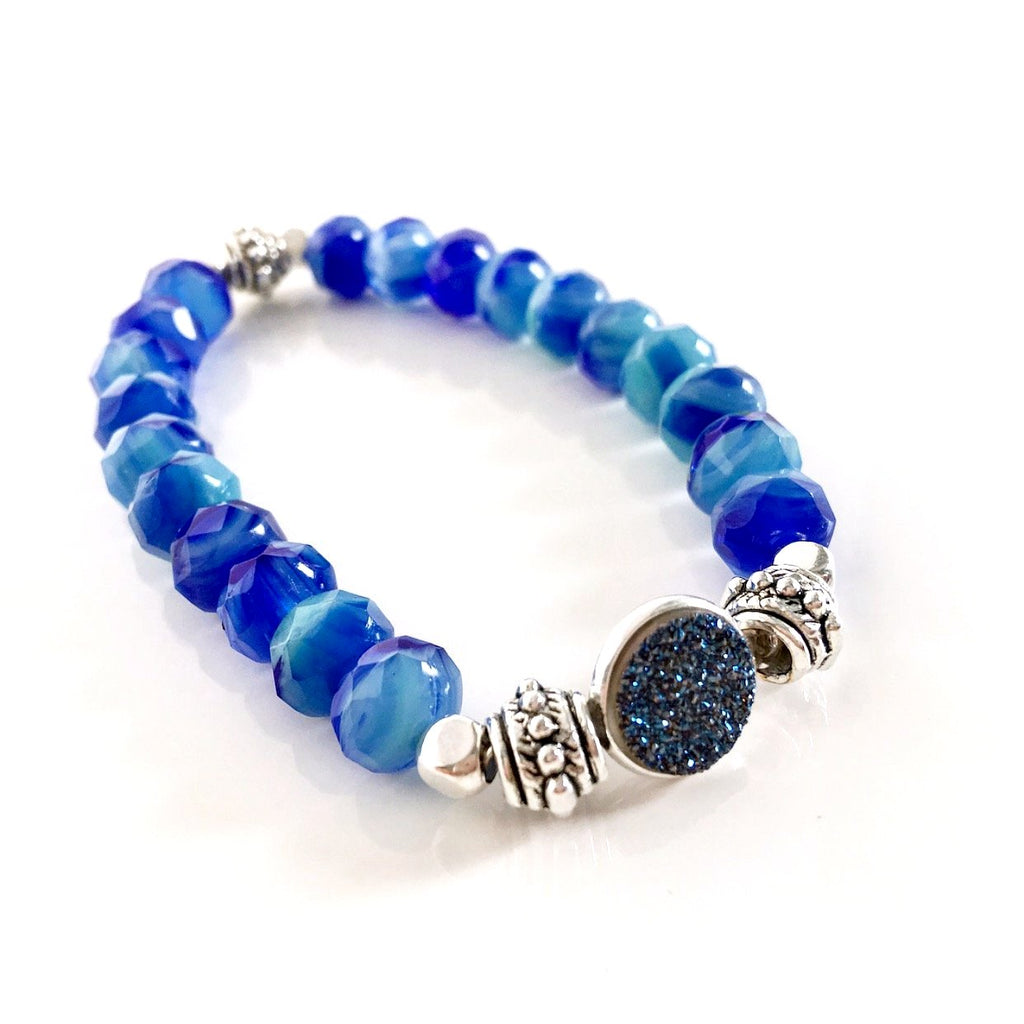 """Druzy Dream"" Bracelet (Azul)"