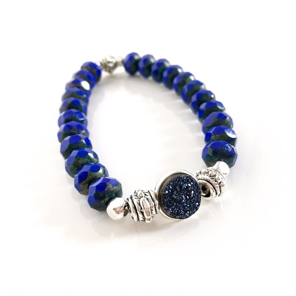"""Druzy Dream"" Bracelet (Midnight)"