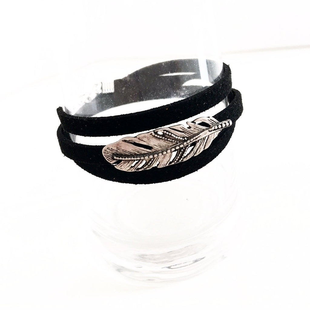 """Feathered"" Wrap Bracelet"