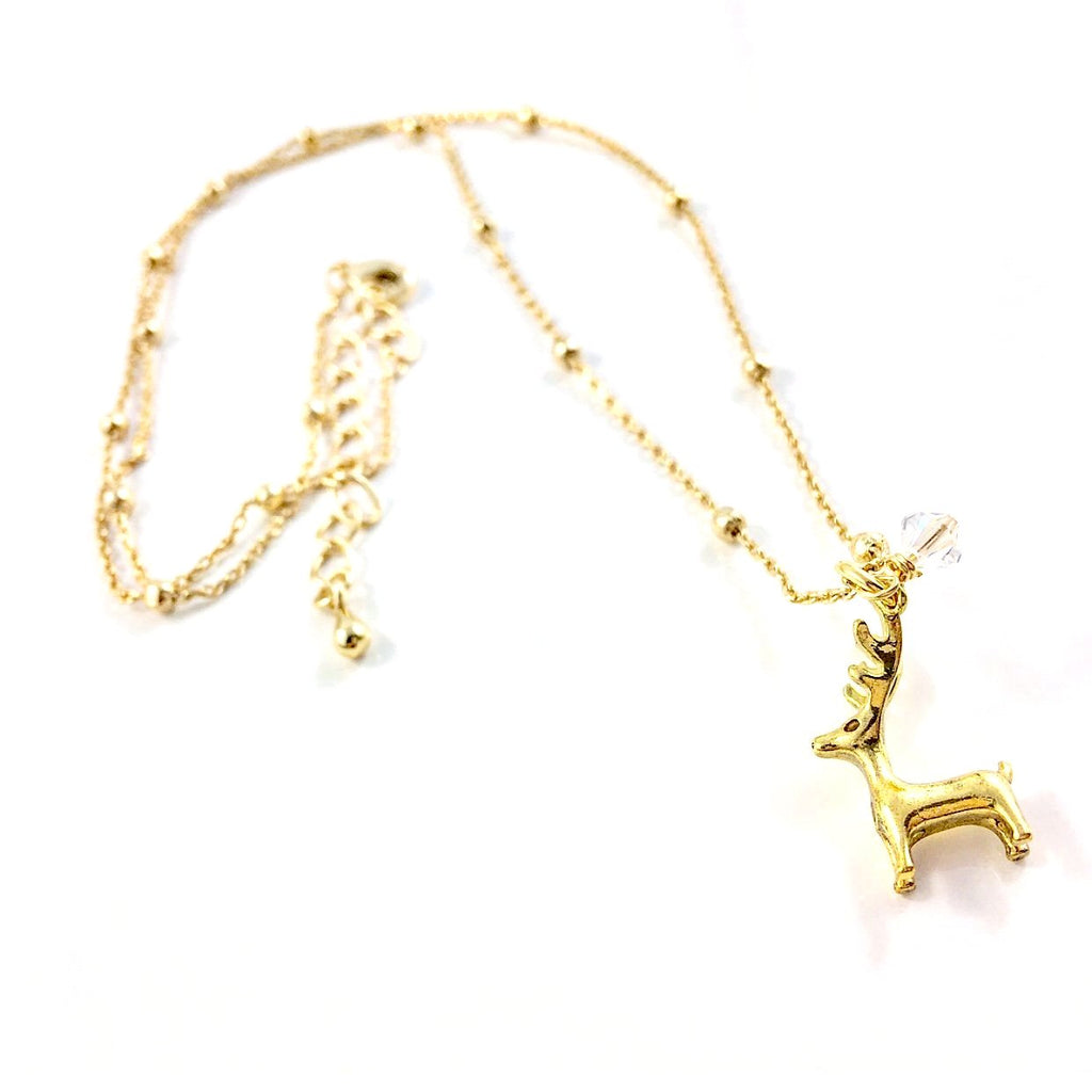 """Little Reindeer"" Necklace (Gold)"