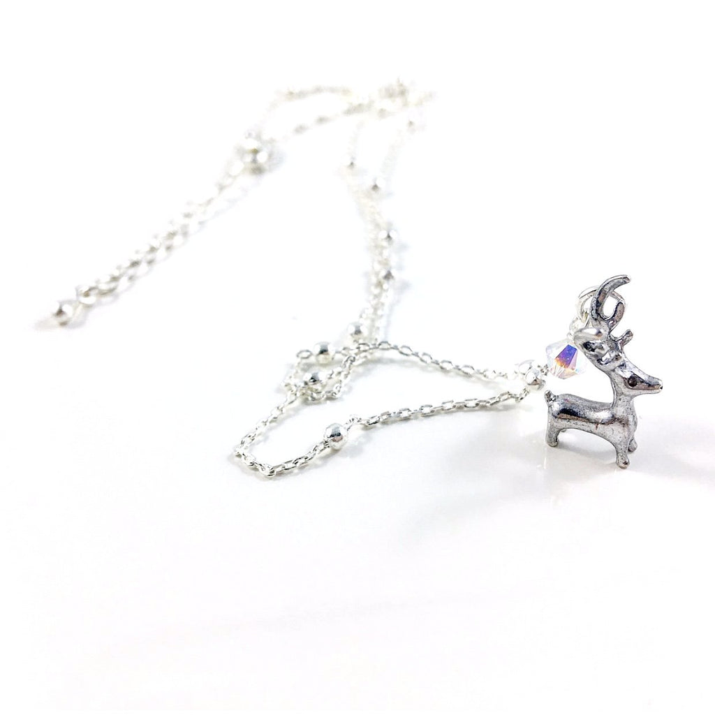 """Little Reindeer"" Necklace (Silver)"
