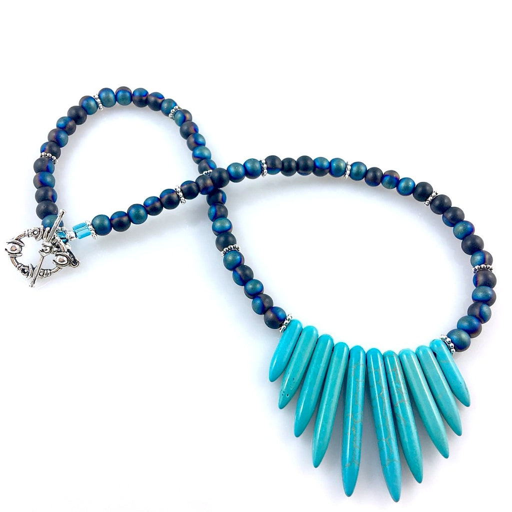 """Blue Icicles"" Necklace"