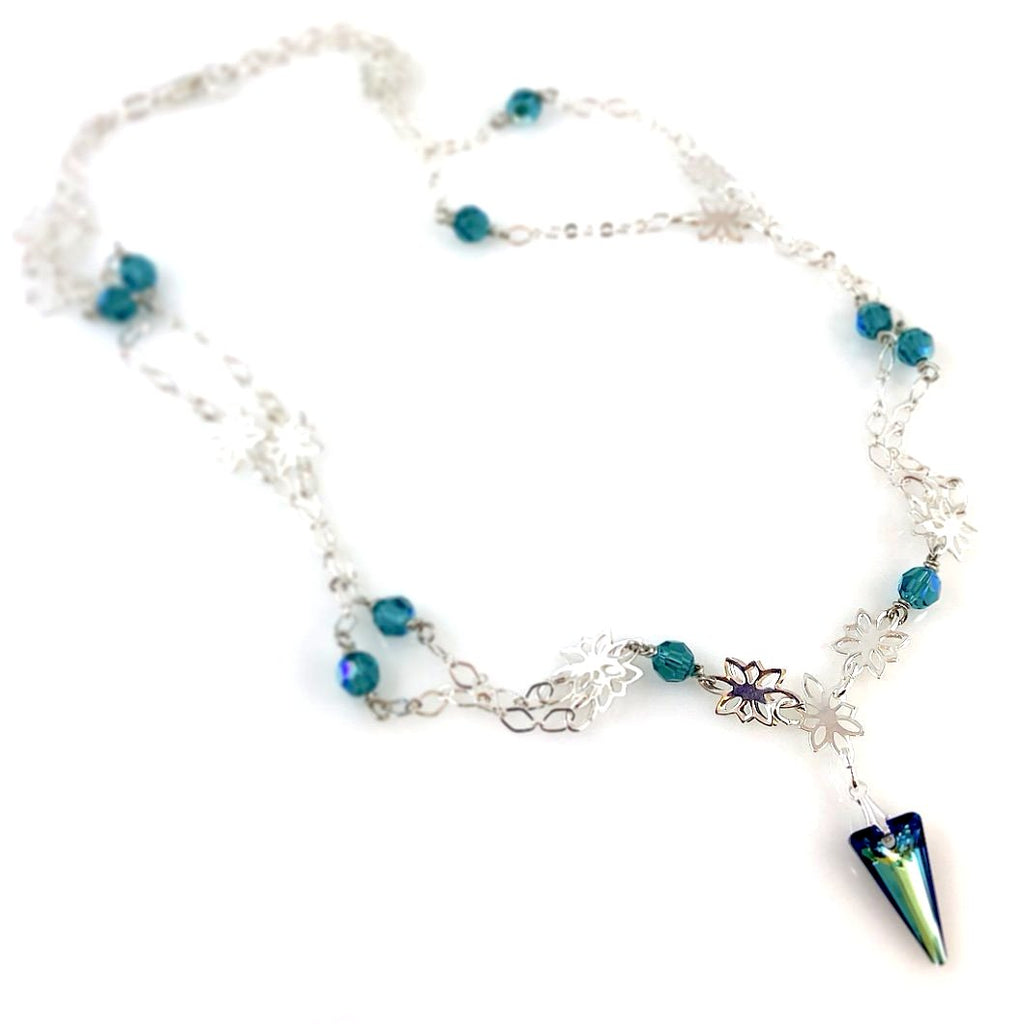 """Unicorn Horn"" Necklace (turquoise)"