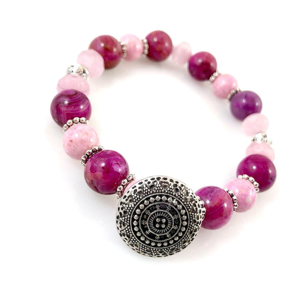 """Be Happy"" Bracelet (Pink)"