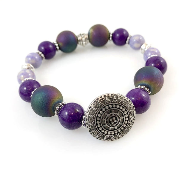 """Be Happy"" Bracelet (Purple)"