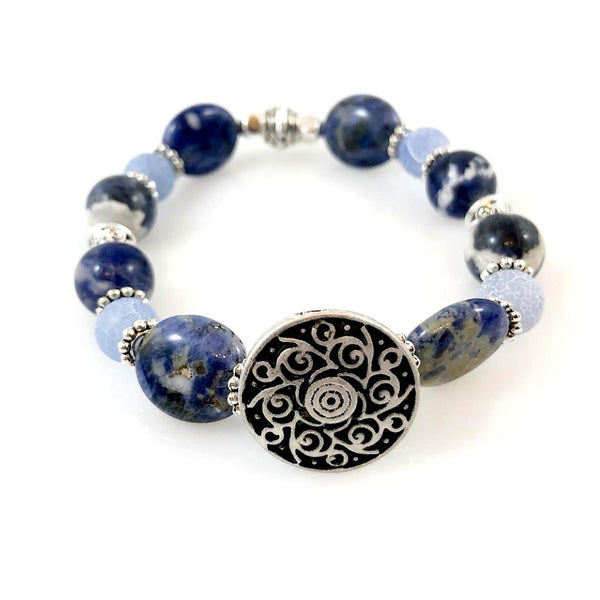 """Be Happy"" Bracelet (Blue)"