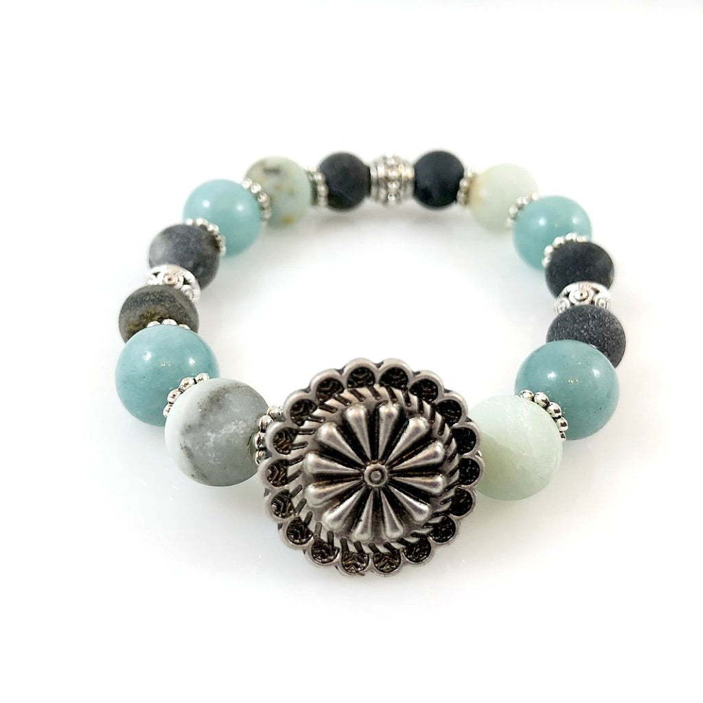 """Be Happy"" Bracelet (Turquoise)"