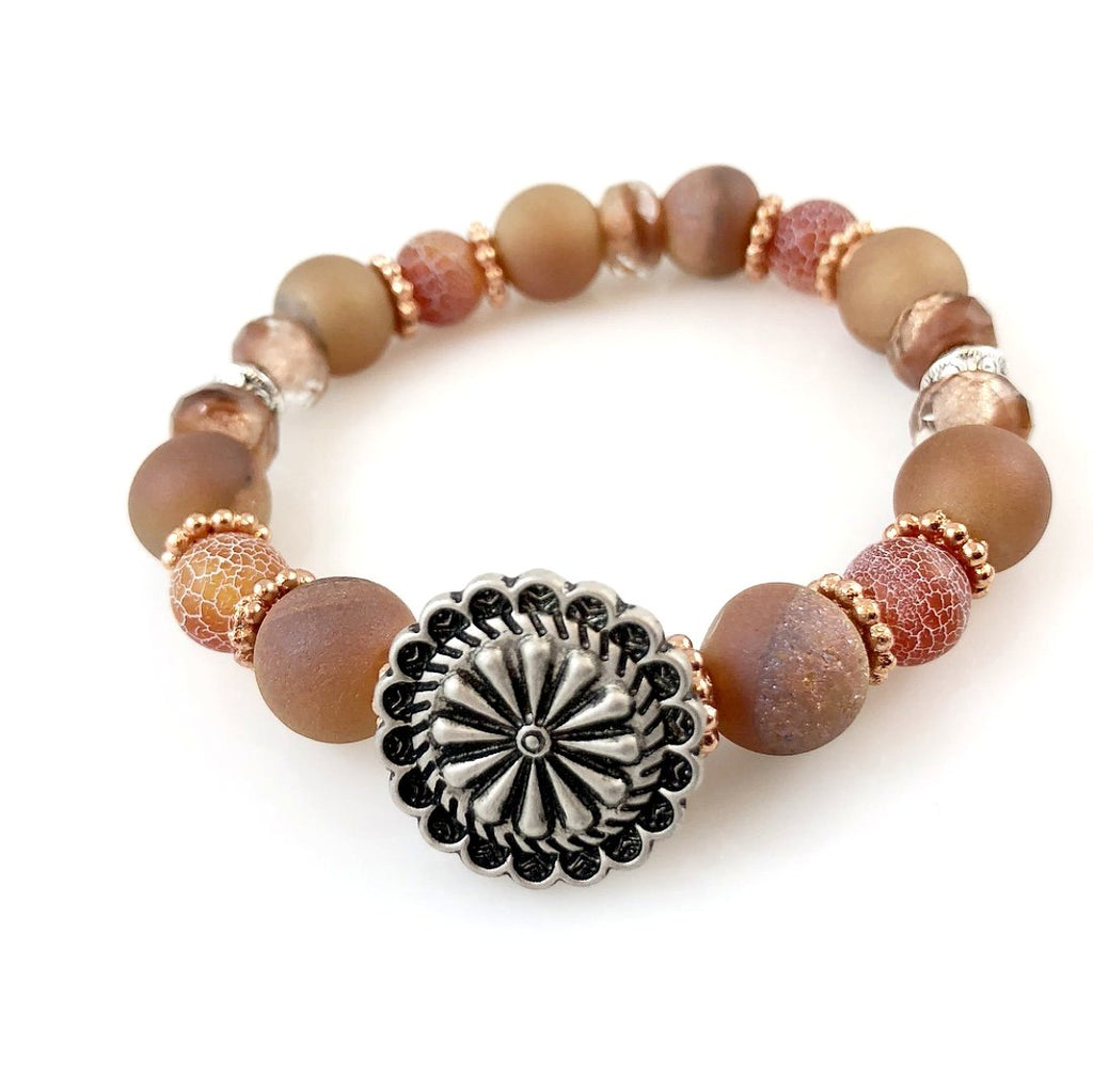 """Be Happy"" Bracelet (Peach)"