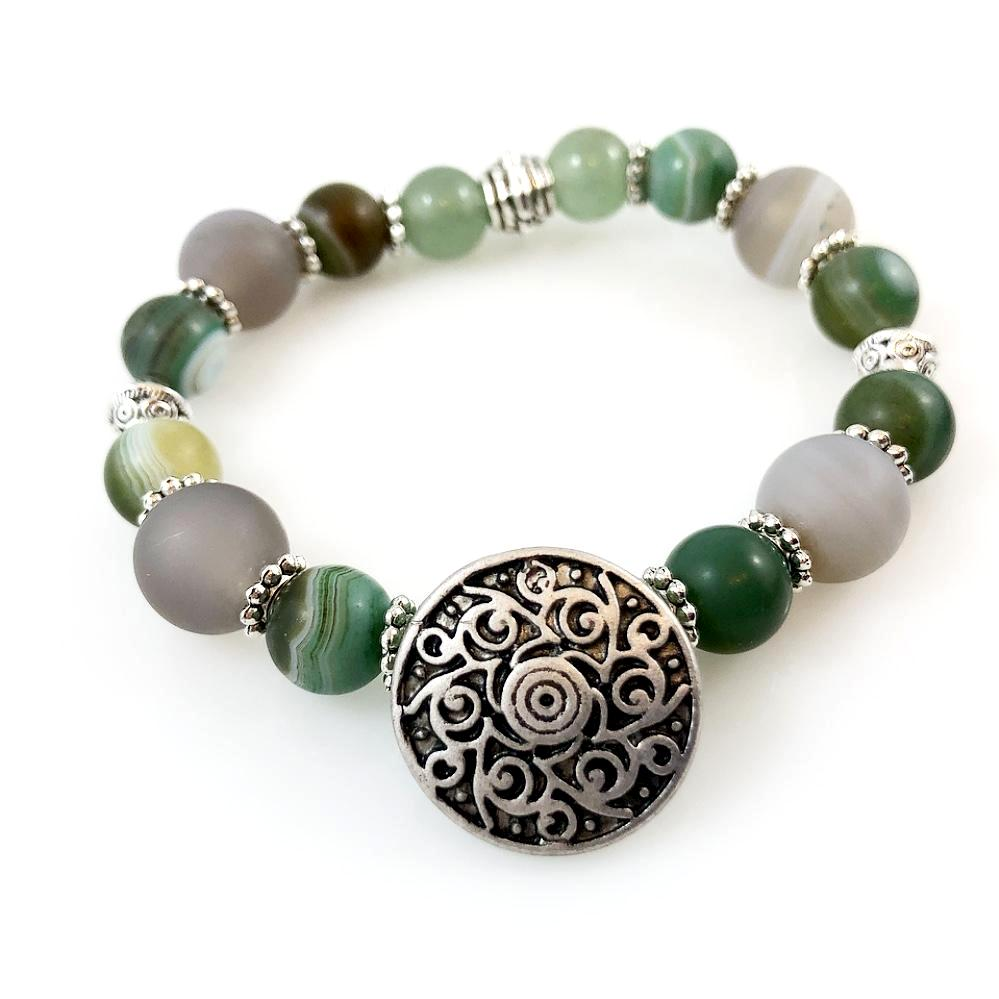 """Be Happy"" Bracelet (Green)"