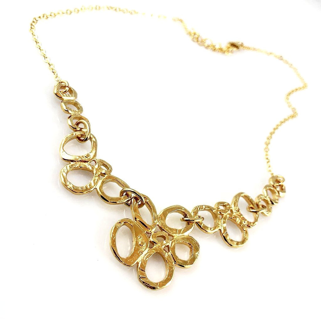 """Linked Together"" Necklace (Gold Tone)"