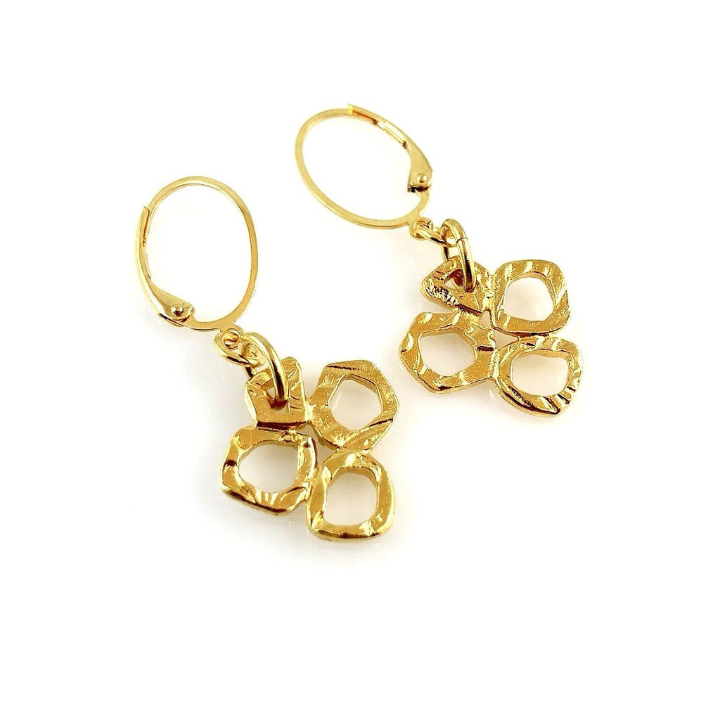"""Linked Together"" Earrings (Gold Tone)"