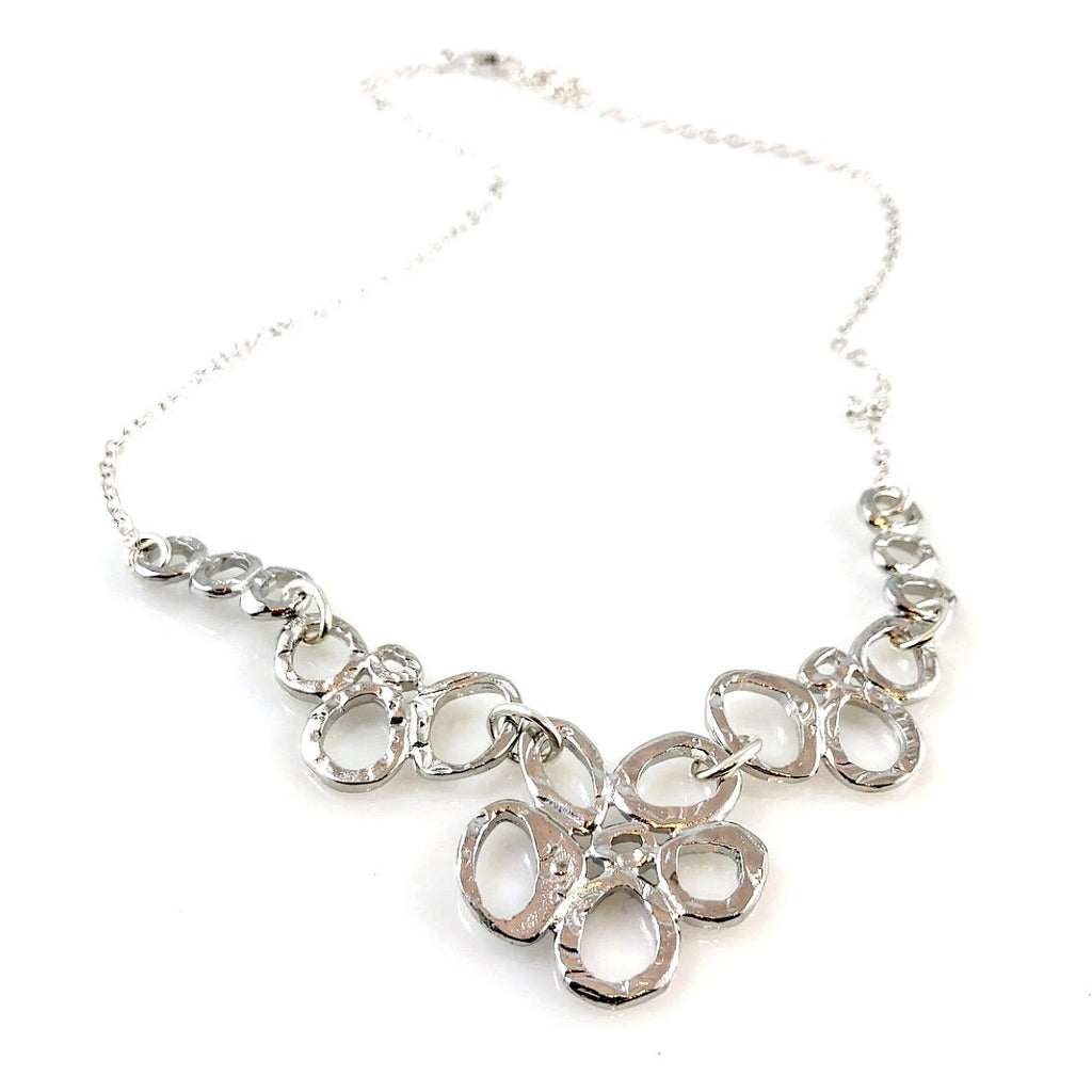 """Linked Together"" Necklace (Silver Tone)"