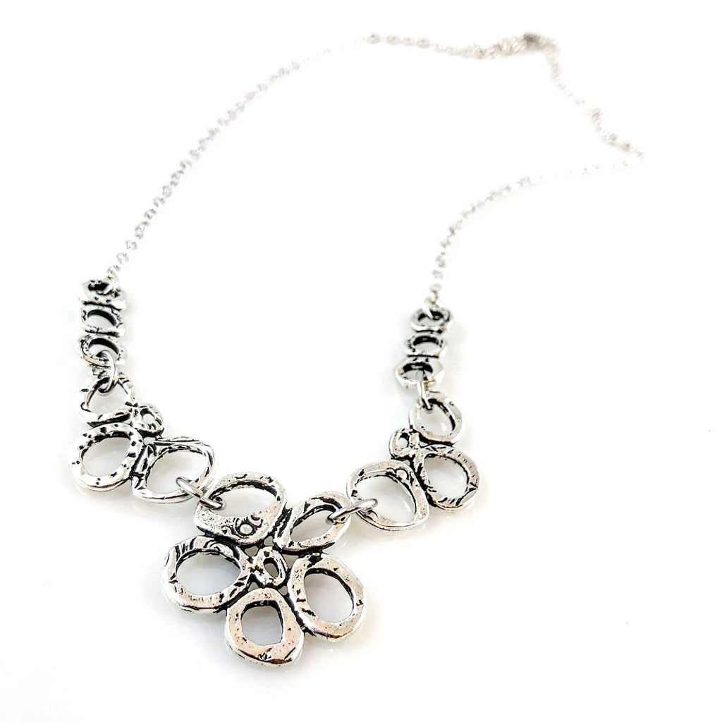 """Linked Together"" Necklace (Antiqued Silver)"