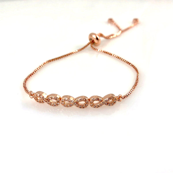 """Always Linked"" Bracelet (Rose Gold tone)"
