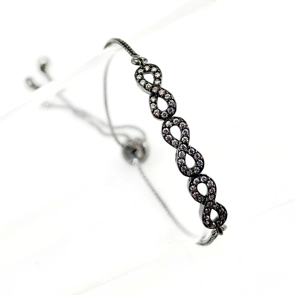 """Always Linked"" Bracelet (Gunmetal tone)"