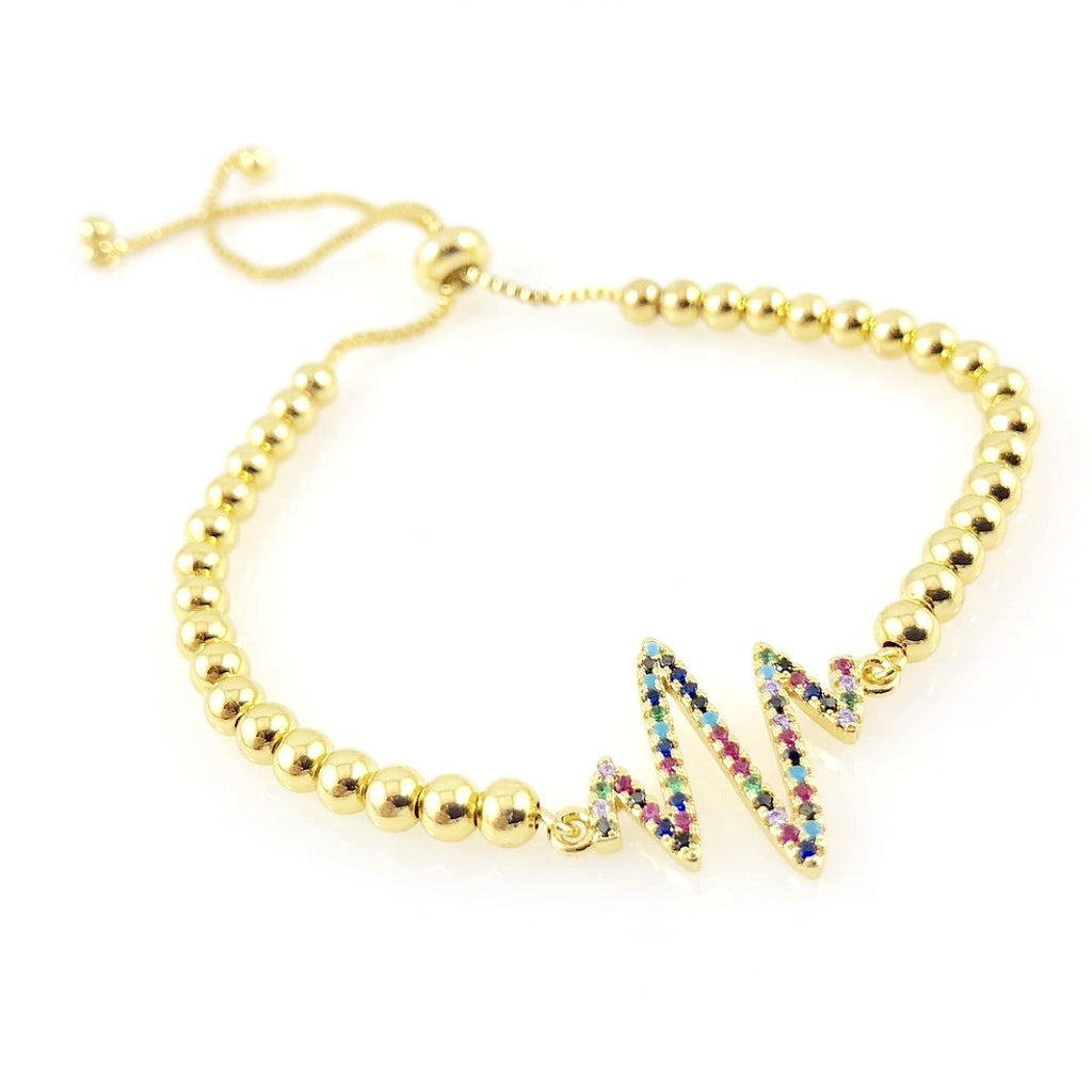 """T-Wave"" Bracelet (Gold-tone Jewels)"