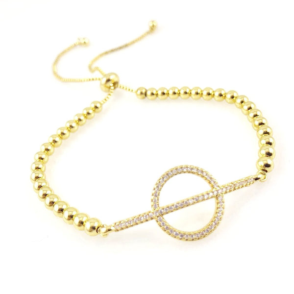 """Encircled"" Bracelet (Gold-tone)"