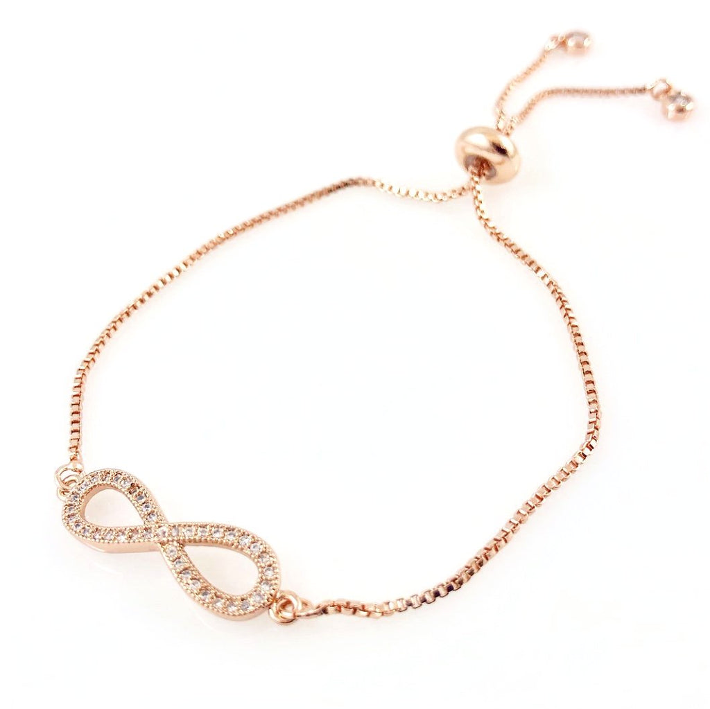 """For Infinity"" Bracelet (Rose Gold-tone)"