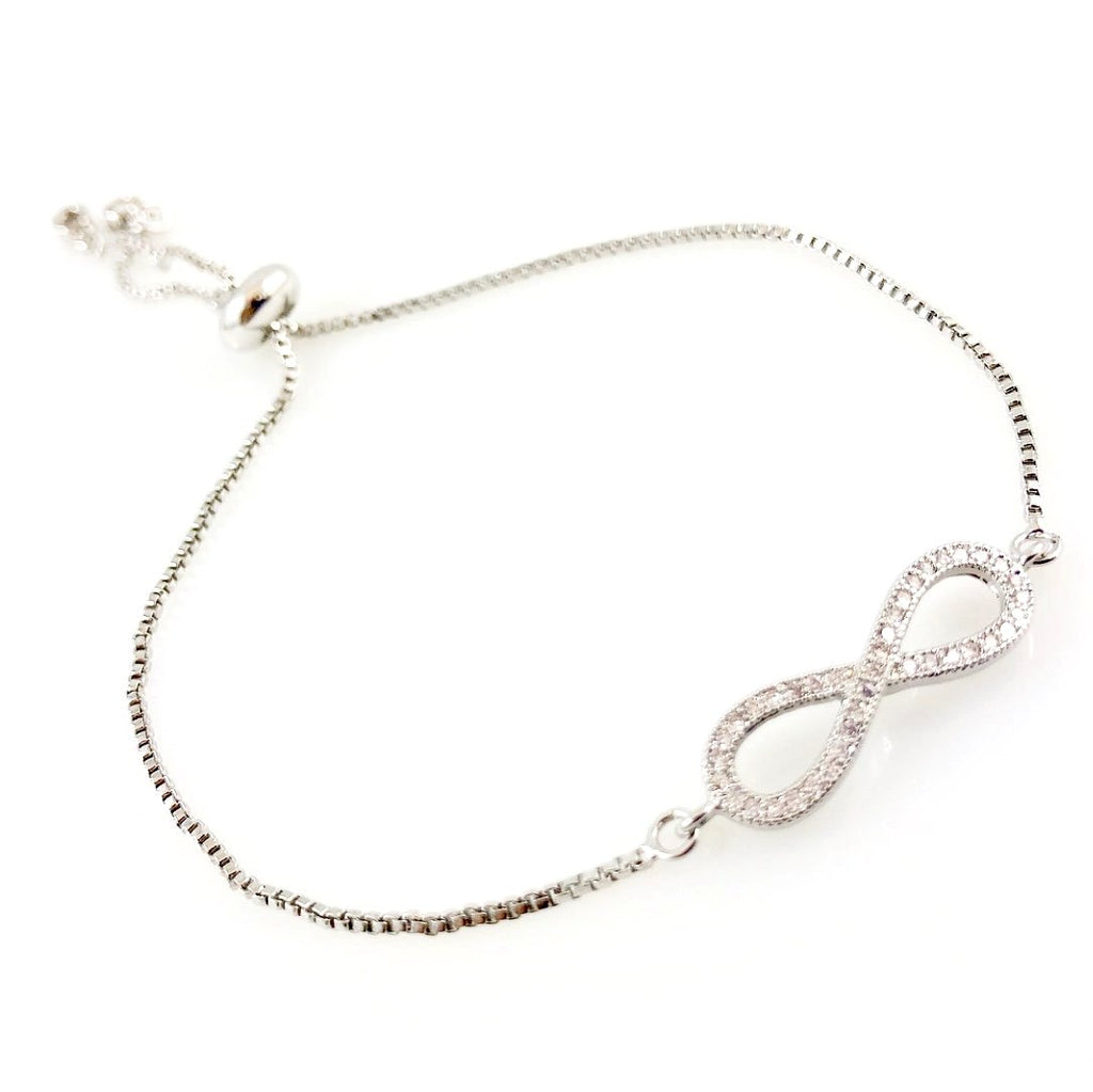 """For Infinity"" Bracelet (Silver-tone)"