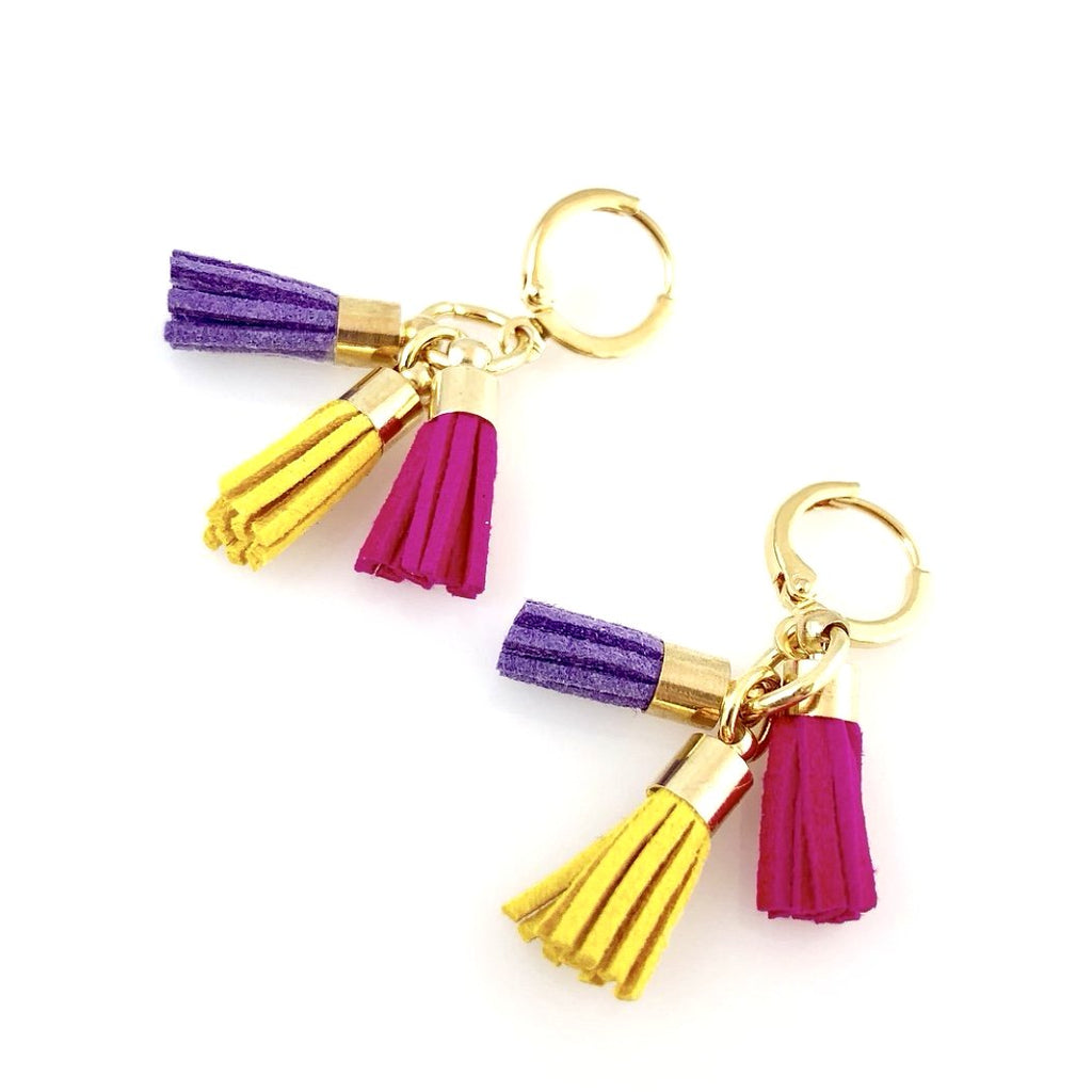 """Triple Tassel"" Earrings (Spring)"