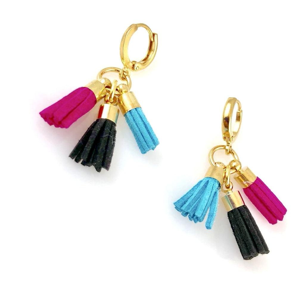 """Triple Tassel"" Earrings (Summer)"