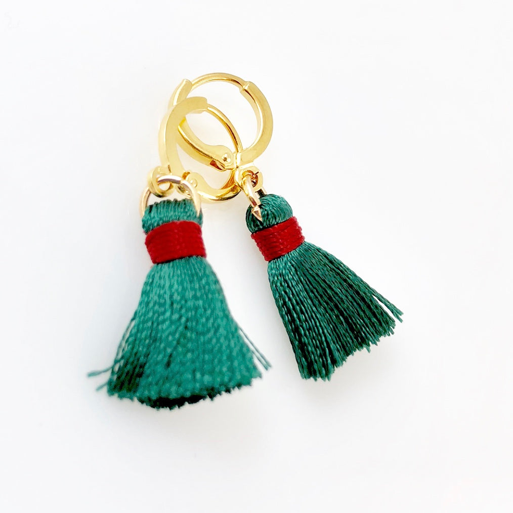 """Teeny Tassel"" Earrings (various colours available)"