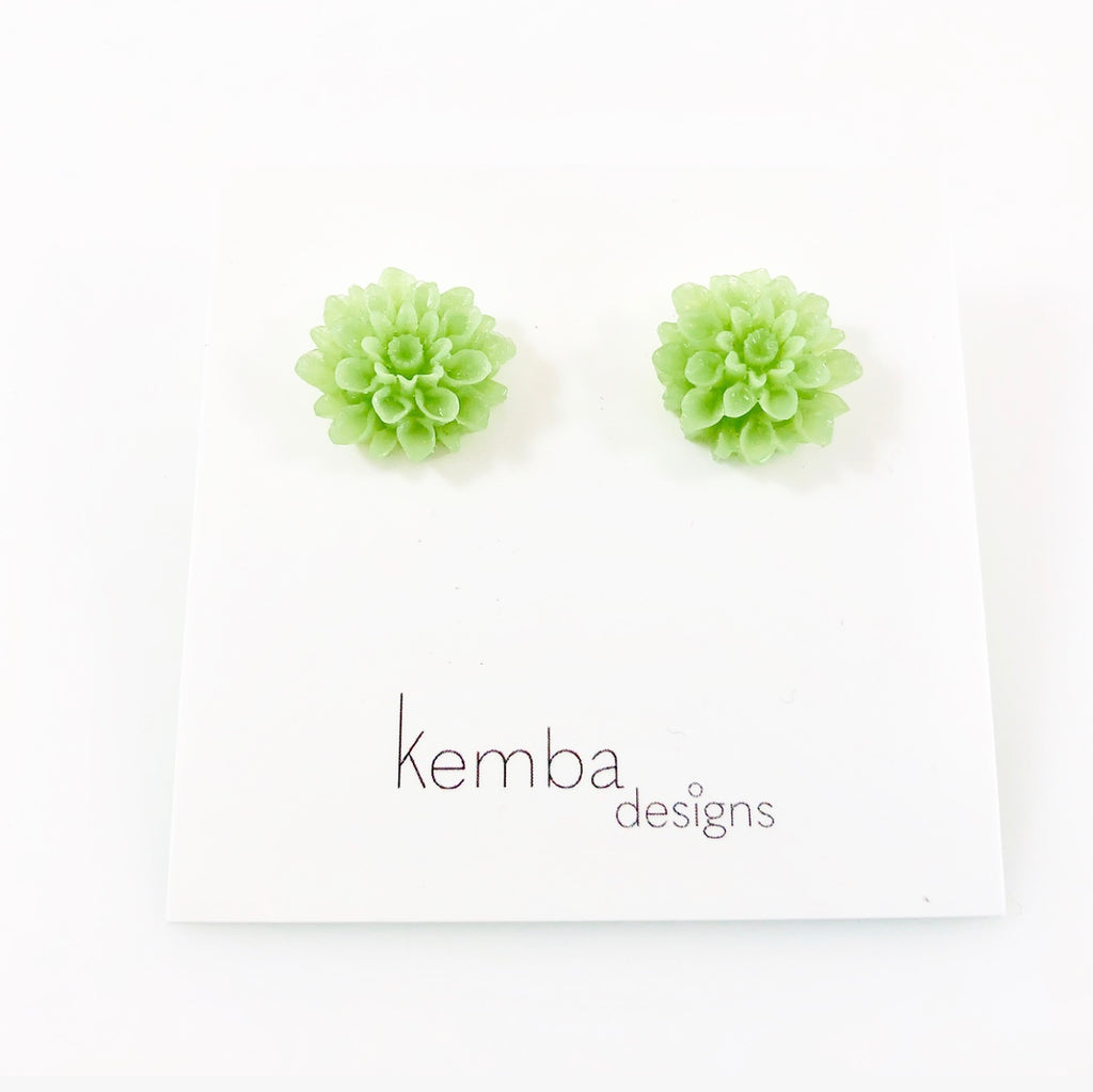 """Blooming Dahlias"" Earrings"