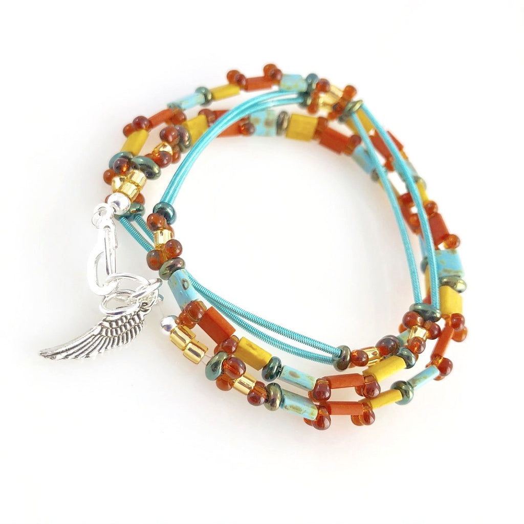 """Glass Tile"" Wrap Bracelet (Journey)"