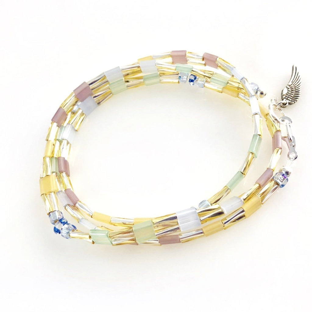 """Glass Tile"" Wrap Bracelet (Unicorn)"