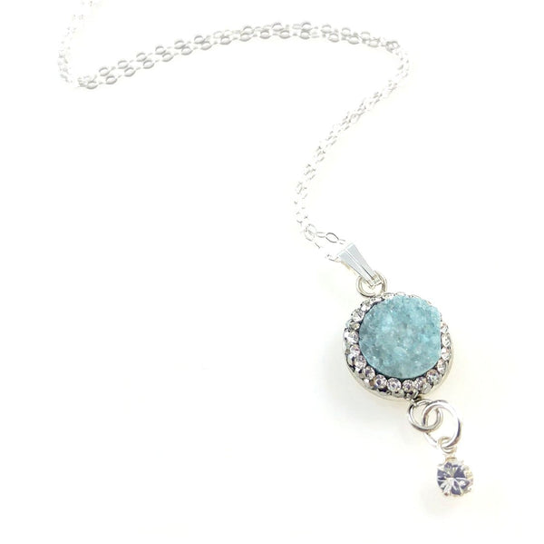 """Druzy Galaxy"" Necklace (turquoise)"