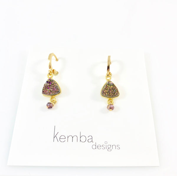 """Carnival Druzy"" Earrings"