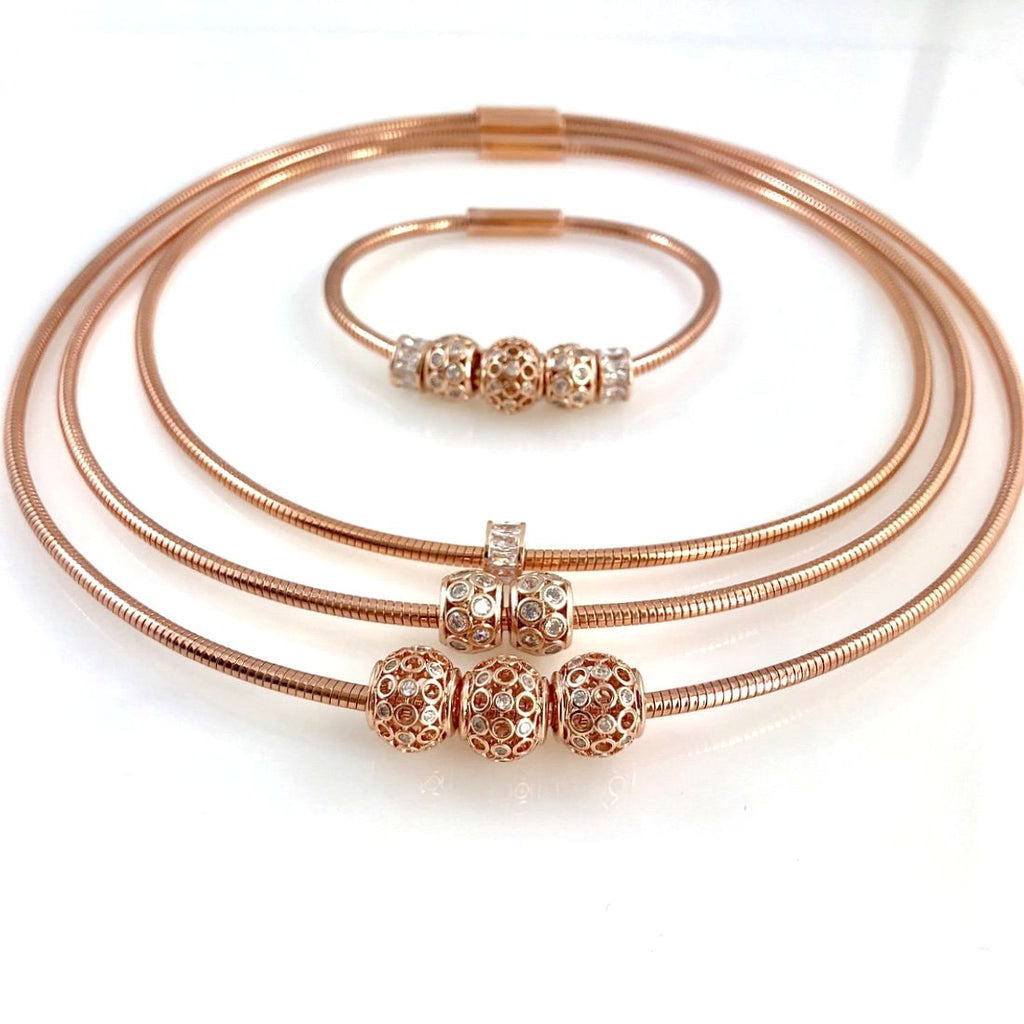 """Omega Rose"" Necklace Set"