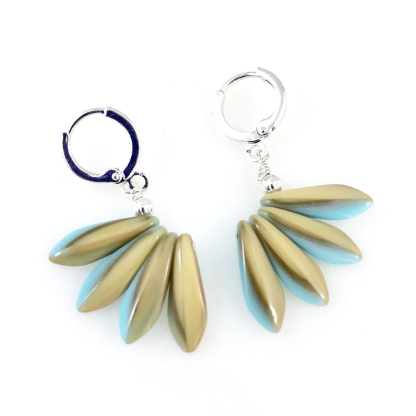 """Peacock Feathers"" Earrings"