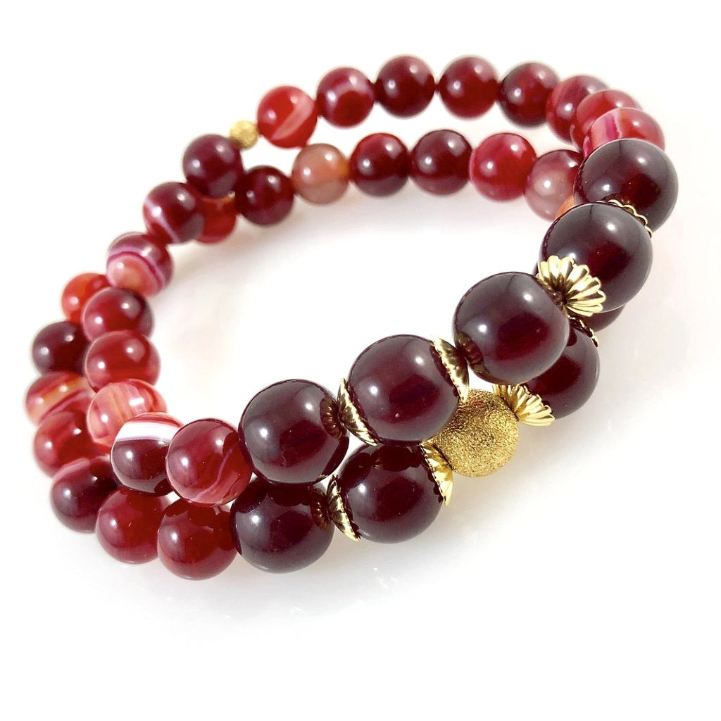 """Cheery Cherry"" Bracelet Set"