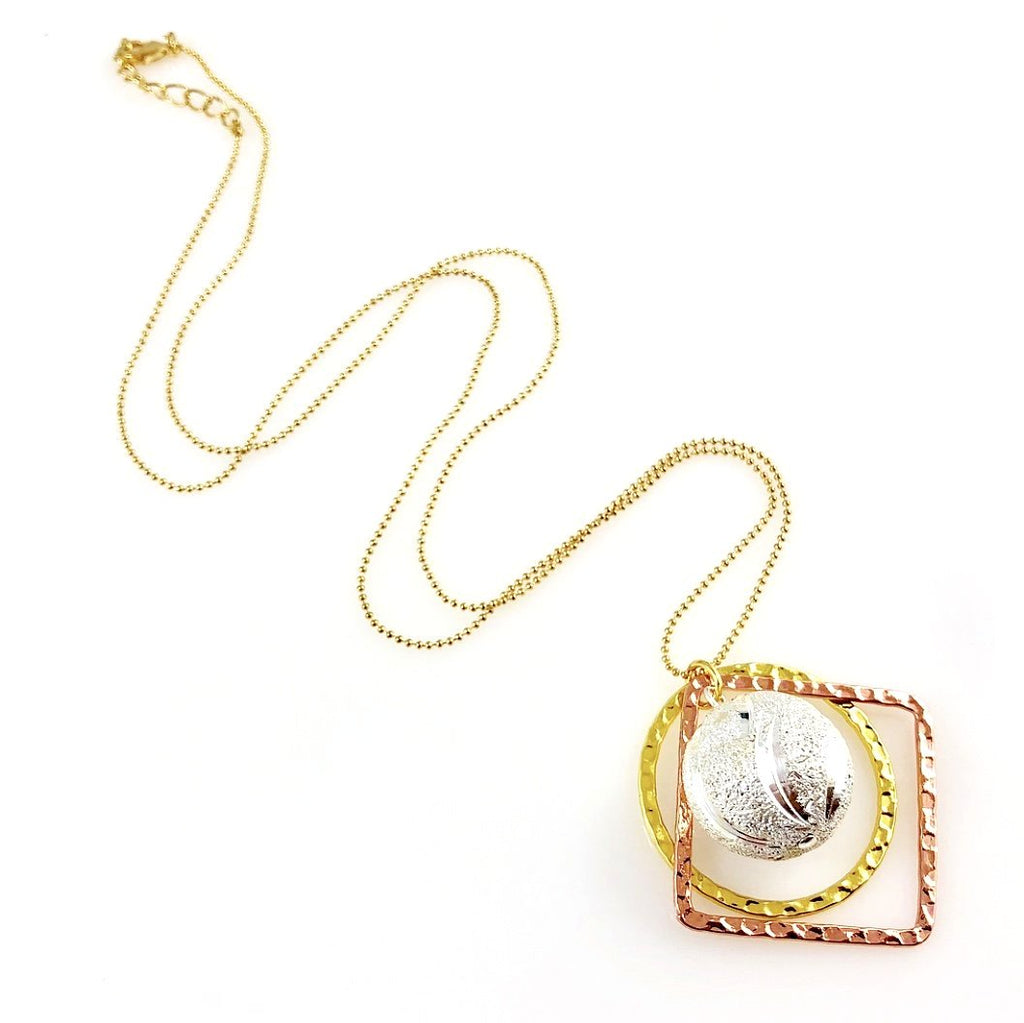 """Shimmer Globe"" Necklaces (Various Colours)"