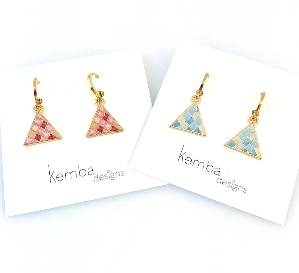 """Little Pyramid"" Earrings"