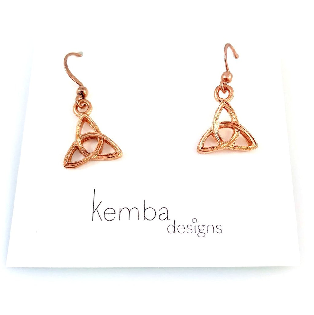 """Copper Celtic Knot"" Earrings"