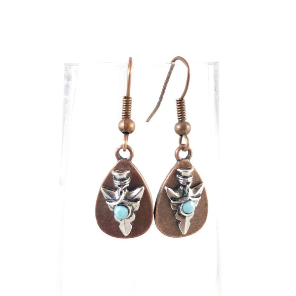"""Ancient Arrowhead"" Earrings"