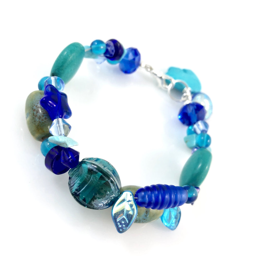 """My Beautiful Chaos"" Bracelet (Blues)"