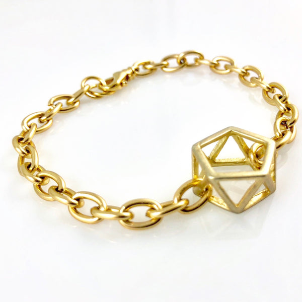 """Geometry"" Link Bracelet (Gold or Silver)"