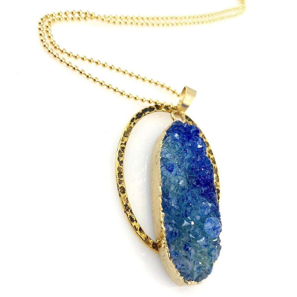 """Druzy XL"" Necklace (Ocean)"