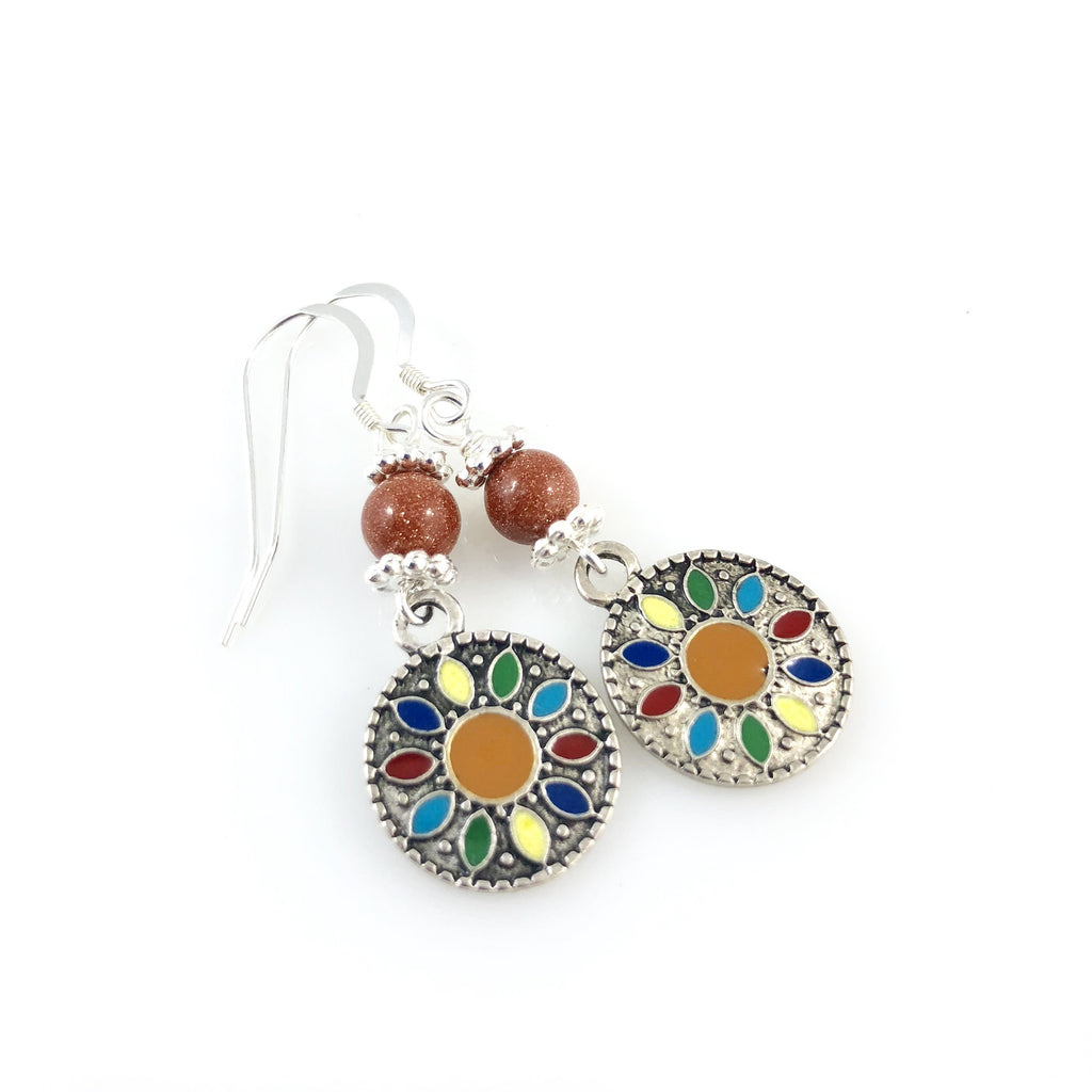 """Painted Sun"" Earrings"