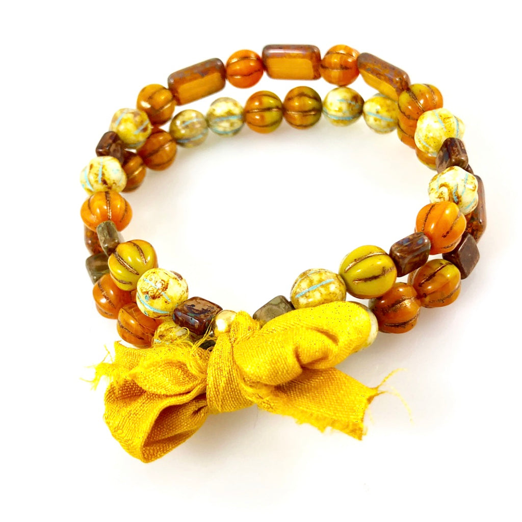 "With Thanks"" Bracelet - Yellow"