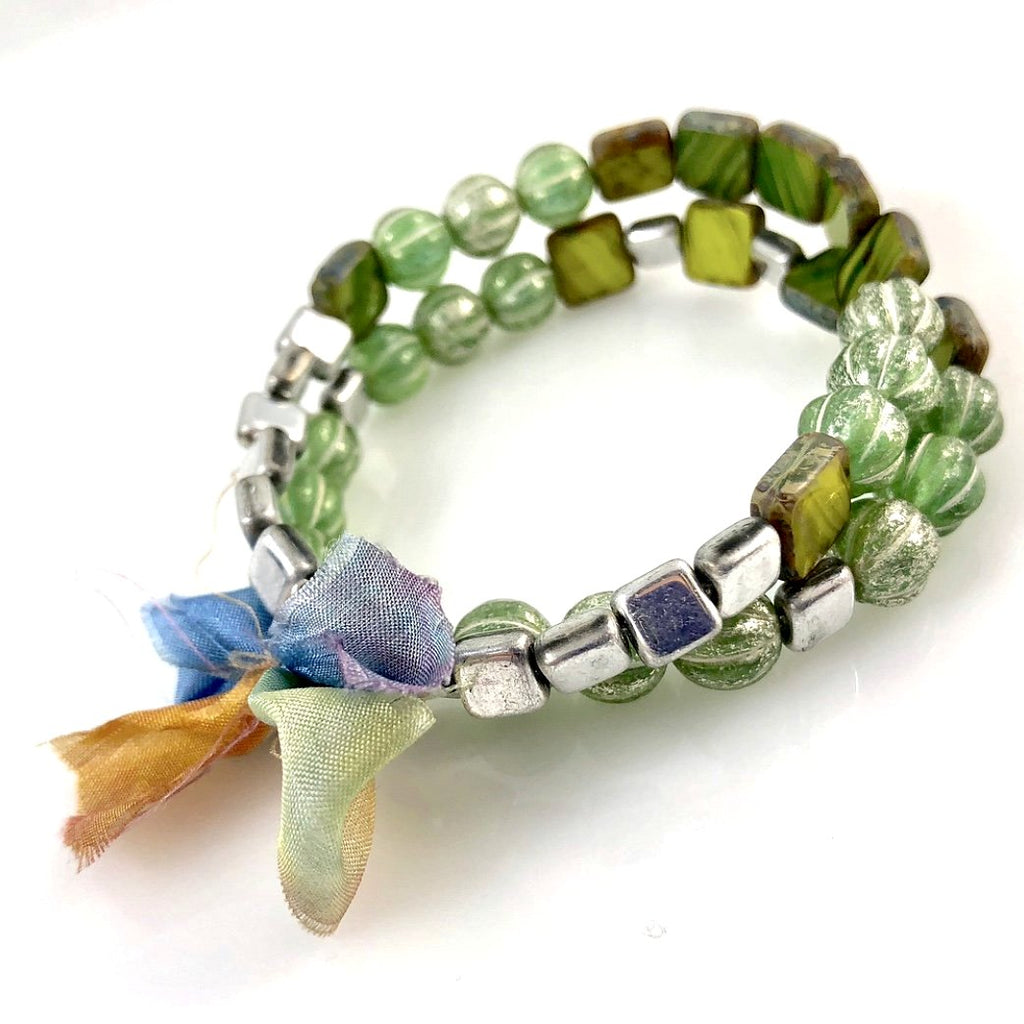 """With Thanks"" Bracelet - Green"