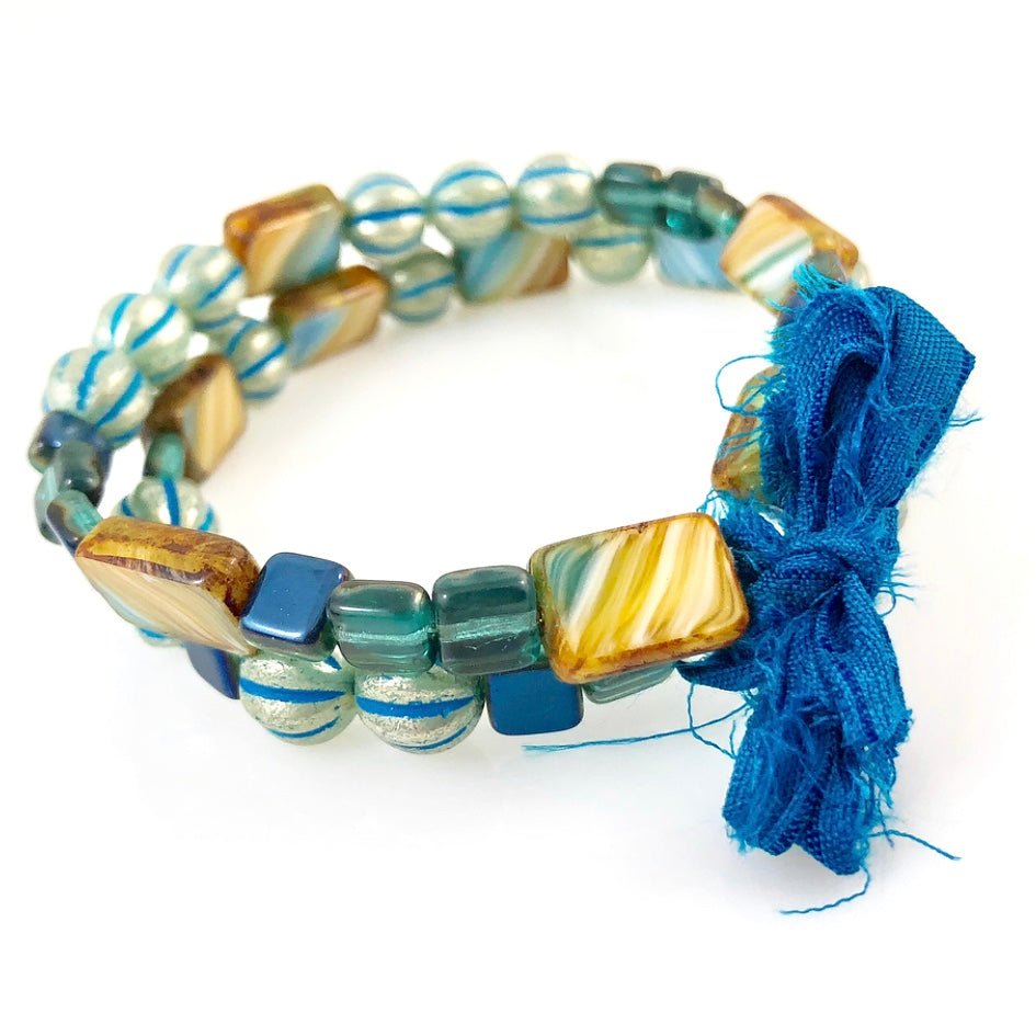 """With Thanks"" Bracelet - Blue"