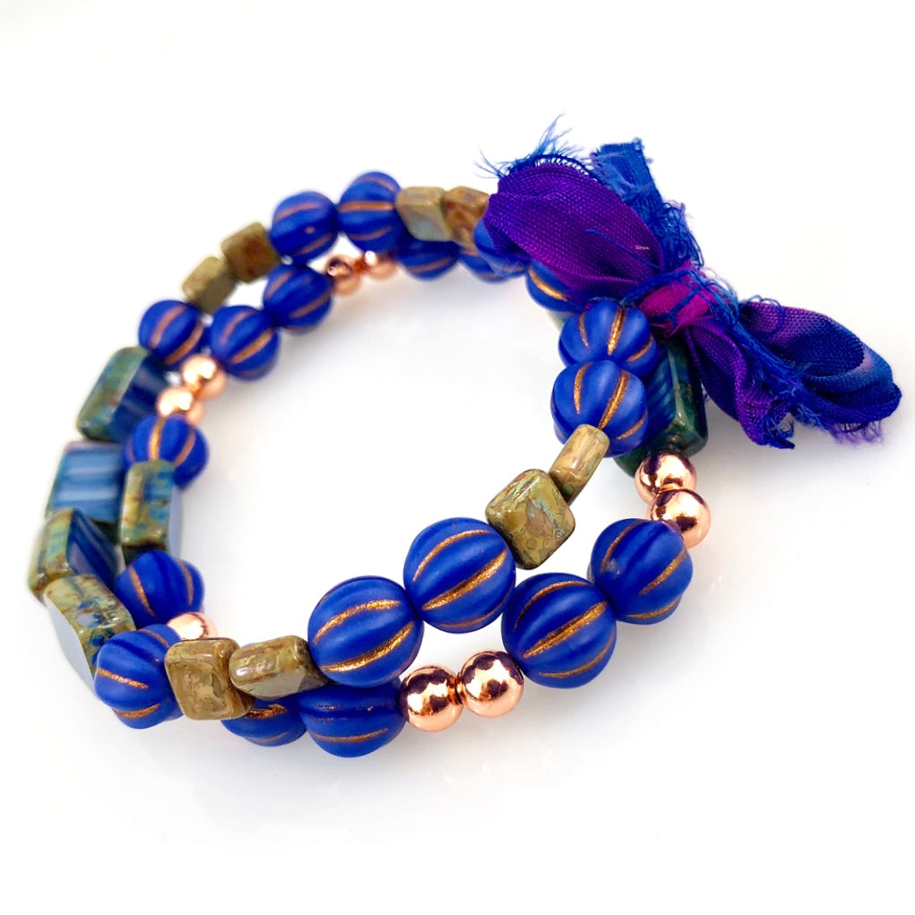 """With Thanks"" Bracelet - Indigo"