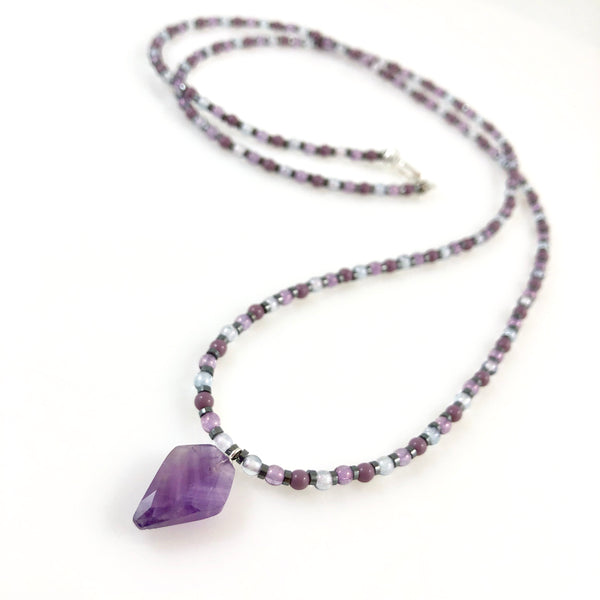 """Amethyst"" Healing Necklace"